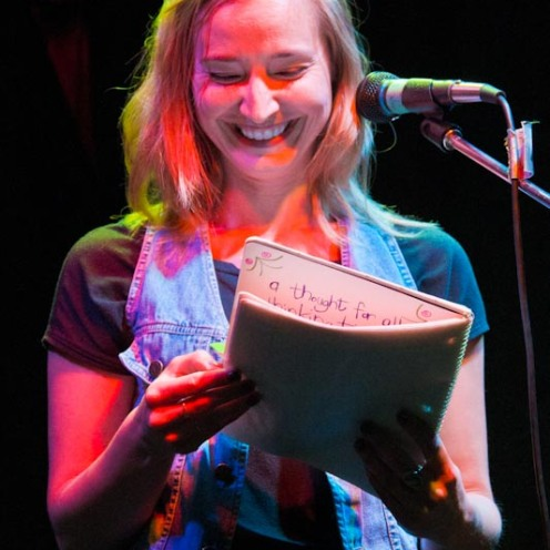 Andrea Matchullis reads from her journals.