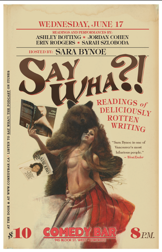 Say Wha?! June 17 Poster