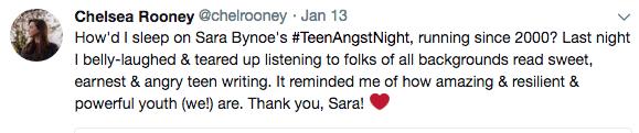 Teen Angst Endorcement Tweet Chelsea Rooney